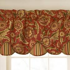 Clearance Drapery Fabric Waverly Curtains Clearance Waverly Grand Bazaar Valance By