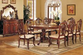 Long Dining Room Table Modern Formal Dining Room Set Unique Carved Double Pedestal Legs