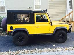 land rover defender 90 yellow 1994 land rover defender 90 aa yellow incredibly clean