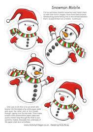 snowman mobile print cut hang