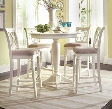 american drew camden 5 pc bar height round dining set in white by