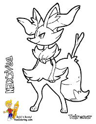 pokemon coloring pages delphox 4 olegandreev me