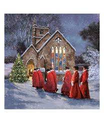 stunning choir christmas card pack of 10 cancer research uk