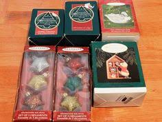 4 collectible hallmark ornaments 20 00766 clock