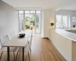 extending indoors to outside by blurring floor boundaries floor