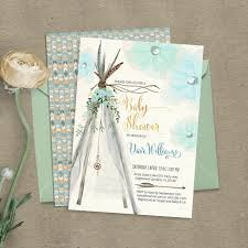 bohemian baby shower teepee bohemian baby shower invitation digital files