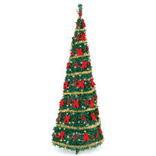 9 christmas tree the cordless prelit pop up christmas tree 9 hammacher schlemmer