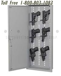 in wall gun cabinet recessed in wall rifle long gun cabinet locker adjustable weapons rack