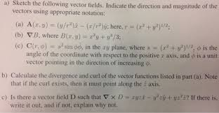 a sketch the following vector fields indicate th chegg com