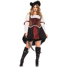 Halloween Costumes Size Ruthless Pirate Wench Size Halloween Costume Costumes