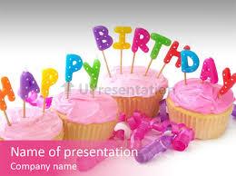 snack happy birthday powerpoint template id 0000007963