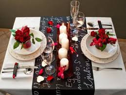 Make Decorations For Valentine S Day by Romantic Valentines Day Table Settings Black White Romantic
