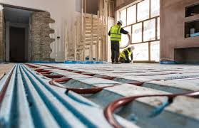 how to install underfloor heating screeded floors pocketed