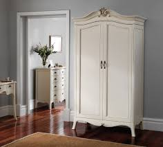 White Bedroom Wardrobes Uk Louis French Ivory Painted 2 Door Double Wardrobe Oak Furniture Uk