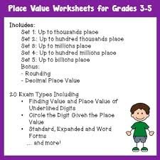 value worksheets with expanded form word forms rounding numbers