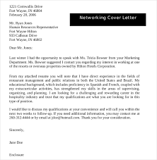 networking cover letter cover letter exle letters and on for 15 mesmerizing