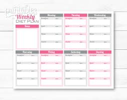 printable meal planner with calorie counter weekly meal planner pdf editable meal planner for weight