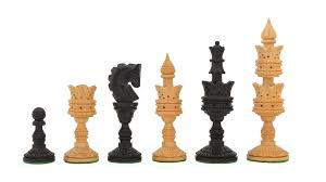 buy unique hand carved wooden chess set online in ebony box wood