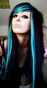 scene haircuts for curly hair black hair styles color black and blue hair color ideas mwrlmti