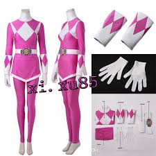 Pink Ranger Halloween Costume Power Rangers Ptera Ranger Mei Cosplay Costume Suit Pants