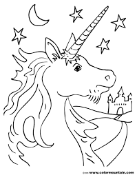 free unicorn coloring page create a printout or activity