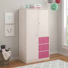armoire for kids cosco applegate armoire with 3 pink fabric bins in enchanted pine
