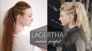 hair styles for viking ladyd lagertha vikings warrior ponytail how to youtube