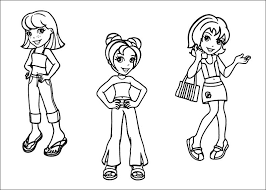 free printable polly pocket coloring pages kids