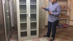 Vertical Filing Cabinets Metal by 2 Glass Door File Cabinet Office Metal Box Lockers Cabinets