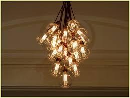 Light Bulb Chandeliers Filament Light Bulb Chandelier Home Design Ideas