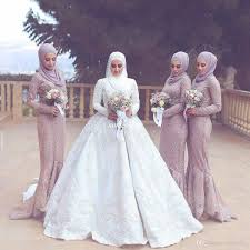 hijab muslim women formal evening gowns with long sleeve applique