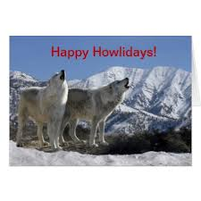painted wolf christmas cards zazzle com