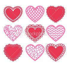 heart doilies stock illustration 23042992 heart shaped doilies decoration set