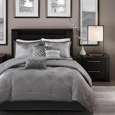 grey bedding ideas exquisite satin grey bedding set for modern master bedroom ideas