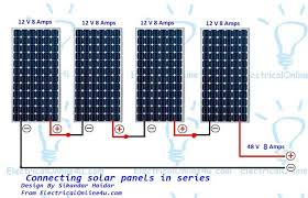 connecting solar panels in series wiring diagram u0026 calculation