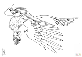 morh the griffin coloring page free printable coloring pages