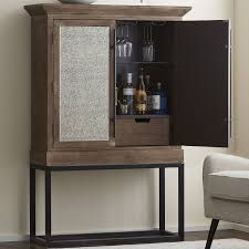 Mirrored Bar Cabinet Antiqued Mirrored Glass Door Bar Cabinet Wine Enthusiast