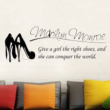 online buy wholesale shoe quotes from china shoe quotes g245 marilyn monroe wall decal stickers decor quote shoe easy removable sticker china
