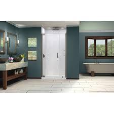 glass door pivot hardware dreamline elegance 46 48 in width frameless pivot shower door 3