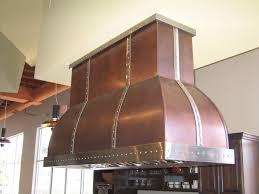 Rustic Kitchen Hoods - rustic copper and antique brass island range hood modern rustic