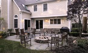 Patio With Firepit Landscape Patio Design Build Firepit Westchester Ny