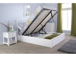 Single Ottoman Storage Bed by Bedding Kensington White Wooden Storage Ottoman Double Bed Frame