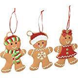 kurt adler 4 inch claydough gingerbread ornament set