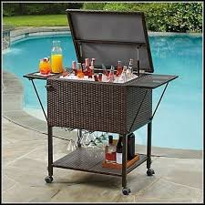 patio beverage cooler cart patio beverage cart home design ideas and pictures
