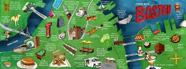 boston tourist map boston massachusetts by jarchow they draw travel
