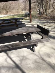booster seat for bench table this picnic table has a built in booster seat for children imgur