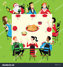 santa joins thanksgiving new stock vector 63202219