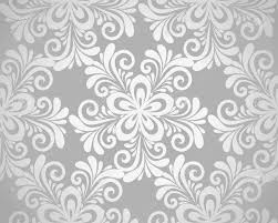 silver flowers excellent seamless floral background with flowers in silver