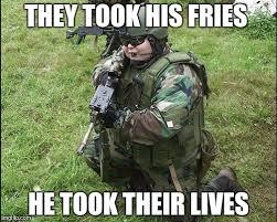Soldier Meme - fat soldier meme generator imgflip