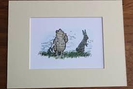 winnie pooh mounted print pooh piglet eeyore christopher